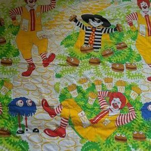 Vintage McDonald's Twin Flat & Fitted Sheet